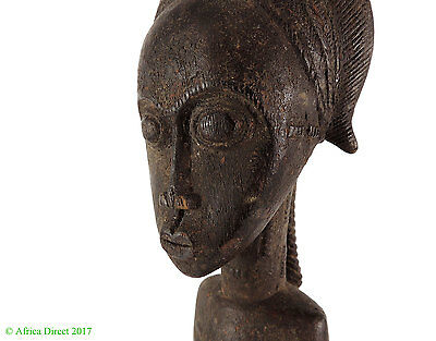 Baule Female Figure African Art Miniature 15 Inch