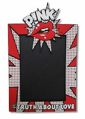 P!NK Pink The Truth About Love Lips Red White Black Picture Frame New Official