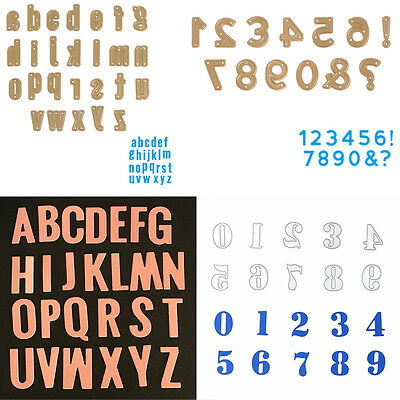 Alphabet Letter Number Cutting Dies Stencil Scrapbooking Paper Embossing Craft