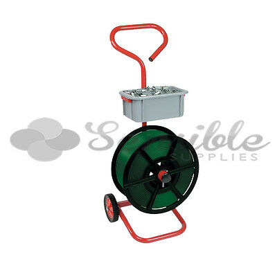 Heavy Duty Strapping Trolley Mobile Dispenser Tool With Wheels *fast Del*