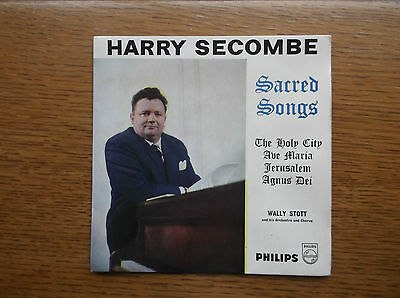 """Harry Secombe 7"""" Vinyl Single Ep Sacred Songs Philips Bbe.12300 Ave Maria"""