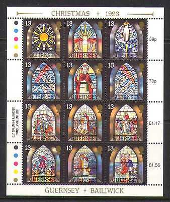 Guernsey 1993 Christmas STAINED GLASS  sht (b6191a)