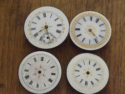 4 Pretty Antique Fob / Pocket Watch Movements