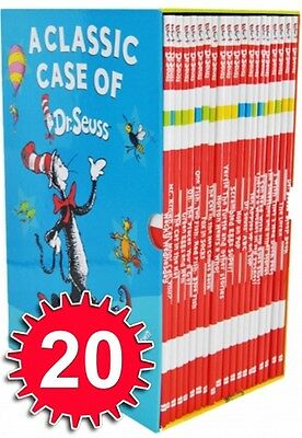 A Classic Case of Dr. Seuss 20 Books Box Set Collection - NEW