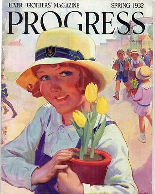 Original Vintage Copy Of Progress Lever Brothers' Magazine Spring 1932