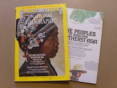 National Geographic Magazine - March 1971 - Southeast Asia Map Included