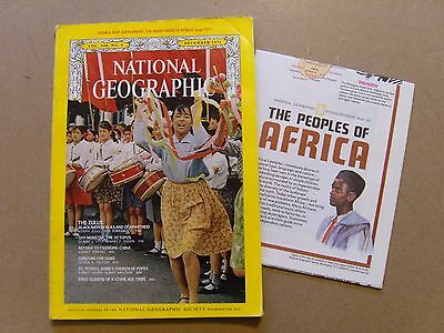 National Geographic Magazine - December 1971 - Many Faces Of Africa Map Included