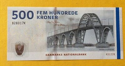 Denmark banknote** BILLET DANEMARK ** 500 KRONER 2012** MINT CONDITION