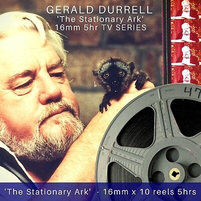 16mm x 10reels GERALD DURRELL The Stationary Ark 1975 TV series UNSEEN 5rhs