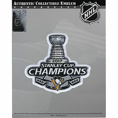 2017 Pittsburgh Penguins Stanley Cup Champions Patch Official NHL Jersey Logo