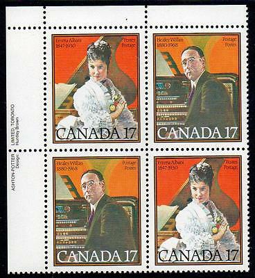 CANADA MNH 1980 Famous Canadians, Block of 4