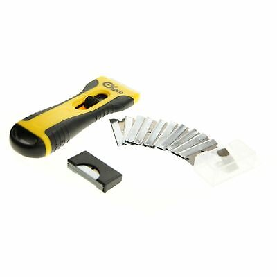 Brand New Glass & Ceramic Hob Scraper Knife Cleaner & 15 Blades Comfort Grip
