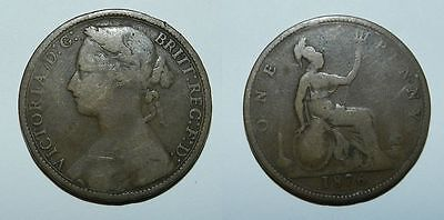 Great Britain : Queen Victoria Penny 1876 H