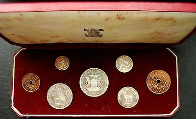 Rhodesia & Nyasaland Elizabeth II 1955 Proof Set in case
