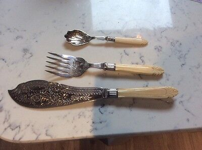 Superb Silver Plated Fish Servers