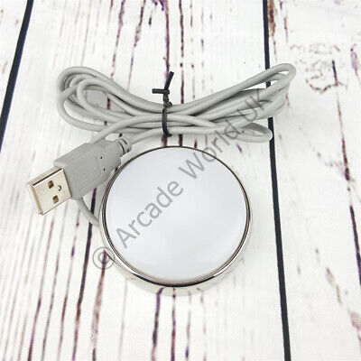 1 x Genuine Ultimarc USB Desktop Smart Button With Polished Stainless Steel Base