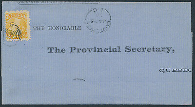 1876 Quebec Statistical Returns Cover, Cookshire to Quebec, 1c Small Queen