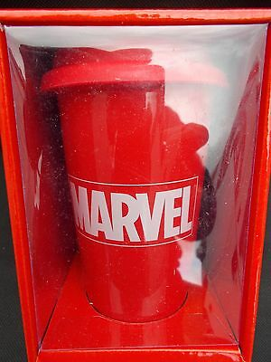Marvel Comics - Logo - Double Wall Ceramic Travel Mug With Silicon Lid