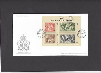 2010 London 2010 Festival of Stamps Min Sheet Royal Mail FDC with Windsor CDS