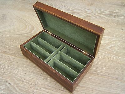 Lovely Early Inlaid Satinwood Antique Jewellery Box - Fab Interior