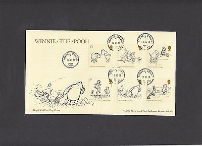 2010 Winnie the Pooh Royal Mail FDC with Totnes CDS