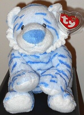 Baby Ty ~ BABY GROWLERS the Blue Tiger - MINT with MINT TAGS