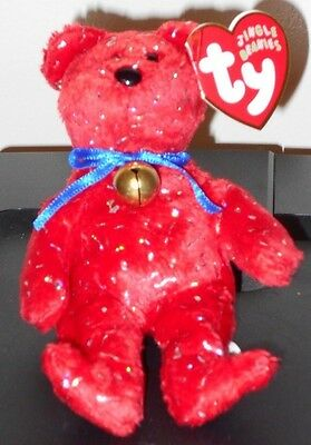 "Ty Jingle Beanie Baby ~ DECADE the (5.5"") Red Holiday Bear ~ MINT with MINT TAGS"