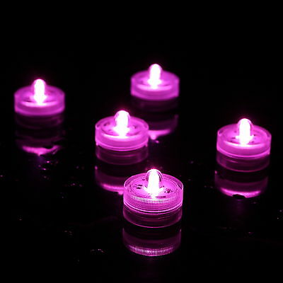 10 Pink Submersible Candles Underwater LED Lights by PK Green