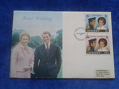 First day cover stamps Jersey Princess Anne Royal Wedding