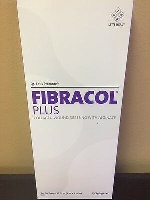 "SYSTAGENIX 2983 FIBRACOL PLUS 4""x8-3/4"" COLLAGEN WOUND DRESSINGS, BOX OF 6"