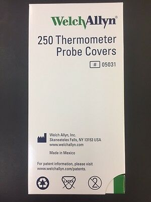 Welch Allyn Inc 05031 Latex Free Disposable Thermometer Probe Covers, Box Of 250