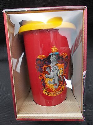 Harry Potter - Gryffindor - Double Wall Ceramic Travel Mug With Silicon Lid