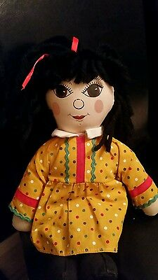 Vintage Rosie Rag Doll - 'rosie And Jim' - 14 Inches - Canal Boat / Narrow Boat