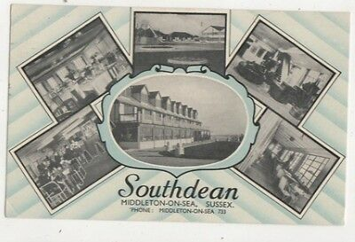Southdean Middleton On Sea Sussex 1959 Postcard 632b