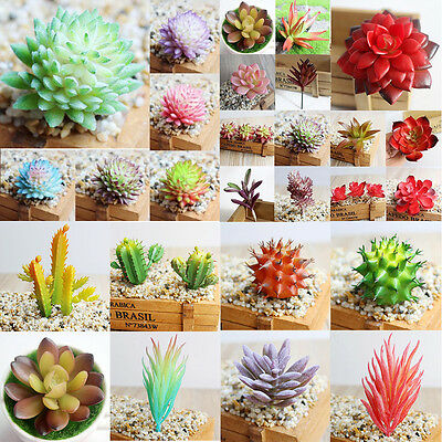 Artificial Succulent Flower Floral Plastic Plant Fake Cactus Home Garden Decor