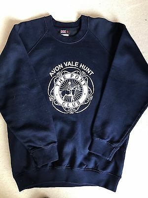 Avon Vale Hunt Pony Club Navy Sweatshirt Size Small. Age 16+