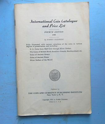 International Coin Catalogue & Price List - Gimbels -1955 - - Free Shipping