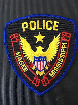 Magee Mississippi  Police  Shoulder Patch
