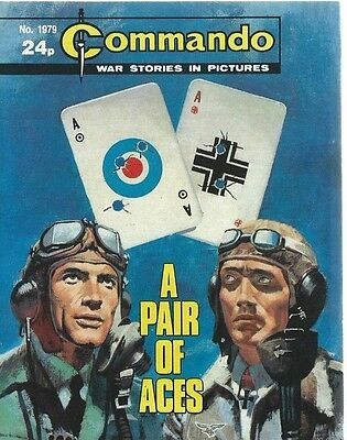 A Pair Of Aces,commando War Stories In Pictures,no.1979,comic,1986