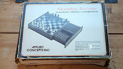 Super Rare Morphy Encore Chesscomputer Applied Concepts Chess Computer