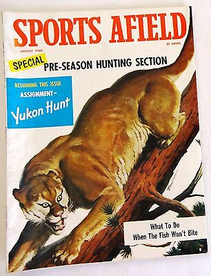 1960 Sports Afield Magazine August Hunting Fishing Outdoor Sports Nice!