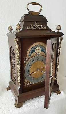 Mantel Clock 1920s Urgos 8 Day Pendulum Movement With Gong Moonphase German