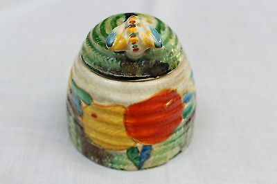 Clarice Cliff Delecia Citrus Large Honey pot with Bee.