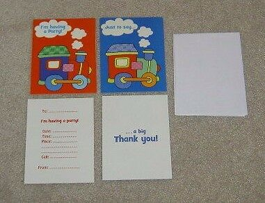 *new* Little Train 16 Party Invites & Thank You Cards