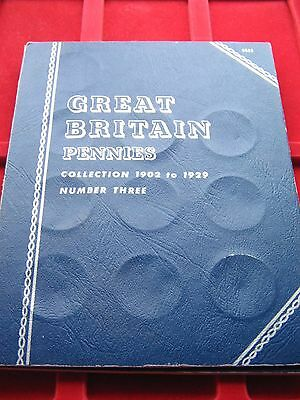 WHITMAN FOLDER FOR GB BRONZE PENNIES 1902-1929 GOOD CLEAN ONE Free UK post