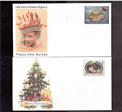 Papua New Guinea Lot Of 5 Mint & Unaddressed Postal Stationary Covers !!