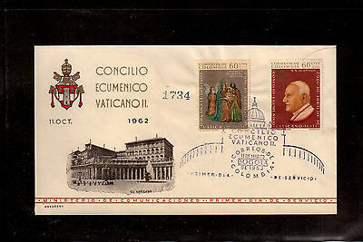 COLOMBIA 1963 FDC # 750/C447, VATICAN II THE 21st ECUMENICAL COUNCIL !!