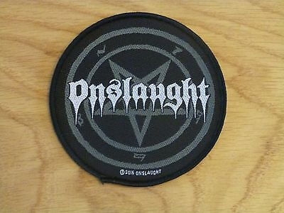 Onslaught - Pentagram (New) Sew On W-Patch Official Band Merchandise