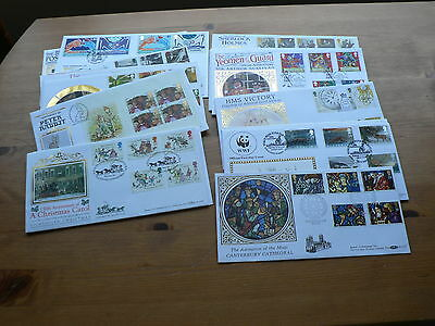 Benham Silk GB First Day Covers, 1992, 1993, 1994, Sold Individually, Full Size