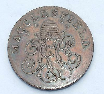 Very High 1789 Macclesfield Beehive Halfpenny Token - Lot 8